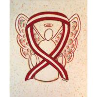 Burgundy and Ivory Awareness Ribbon