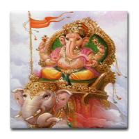 Hindu Ceramic Tile Coasters