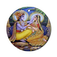 Hindu Art Ornaments (Oval or Round)