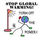 STOP GLOBAL WARMING TURN OFF THE POWER!