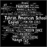 Tehran American School White Word Cloud