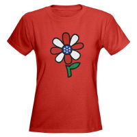 American Flower Power Patriotic Hippy Chic T Shirt