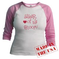 Cool Sister of the Groom Hip Wedding T Shirts Gift