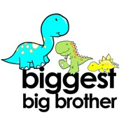 biggest big brother t-shirt dinosaur