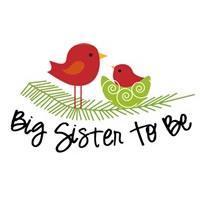 big sister to be birdie christmas shirt