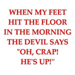 a funny devil joke on gifts and t-shirts.
