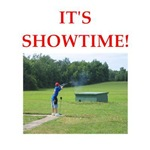 a funny trap shooting joke on gits and t-shirts.