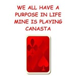 a funny canasta joke on gifts and t-shirts.