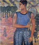 tennis art on gifts and t-shirts
