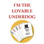 funny card player joke on gifts and t-shirts.
