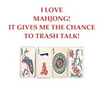 funny mahjong joke on gifts and t-shirts.