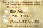 Poseable Aspirin
