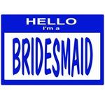 Bridesmaid Nametag (blue)