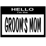 Grooms Mom Nametag (black)