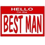 Best Man Nametag (red)