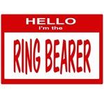 Ring Bearer Nametag (red)