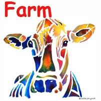 Whimsical Farm Animals Art
