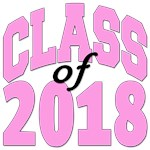 Class of 2018 pink