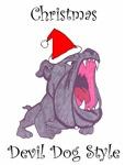 Christmas Devil Dog