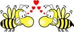 Bees in Love Design