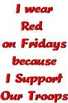 I wear Red on Fridays