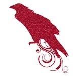 Halloween Red Raven