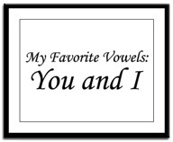 My Favorite Vowels