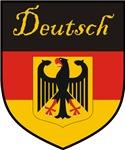 Deutsch Flag Crest Shield
