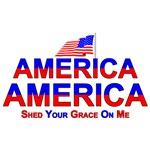 American Flag America Shed...