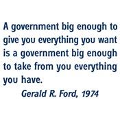 A Government Big Enough!