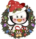 Christmas Penguin Holiday Wreath