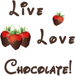 Live Love Chocolate Gifts and Apparel