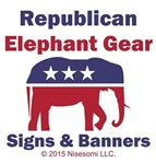 Republican Elephant Gear Signs & Banners