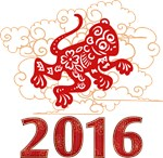 Paper Cut Year of The Monkey 2016 T-Shirts