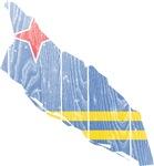Aruba Flag And Map