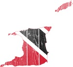 Trinidad And Tobago Flag And Map