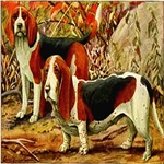 Beagle and Basset Hound 1920 Digitally Remastered