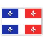 Drapeau Quebec Bleu Rouge