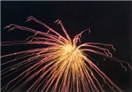Red and Yellow Firework