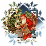 Santa, Children and a Tree