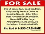 US Senate Seat For Sale