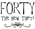 40th birthday humor saying forty, the new 30, gift