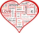 Words for Love in different languages - Red heart