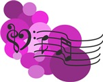 Pink Music Clefs and Polka Dots