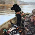 Autumn Memory- Black Labrador
