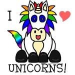 Cute Rainbow Donkey Designs