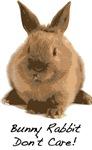 Bunny Rabbit Don't Care!