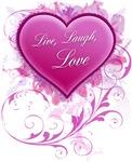 Live, Laugh Love Floral Grunge