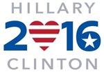 Hillary 2016 Heart Flag