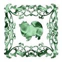 American Eskimo Green Ornamental Lattice